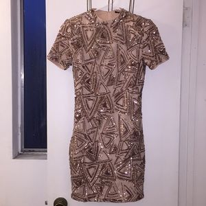 Semi-formal Forever21 dress with sequins. Size S